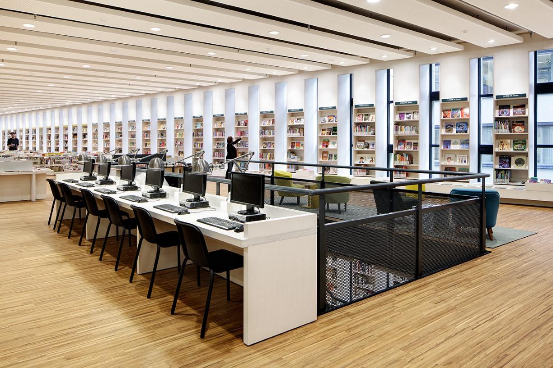 Rozet arnhem bibliotheek vide 2 interieur door for Interieur stage amsterdam